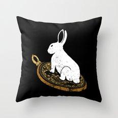 Follow The White Rabbit Throw Pillow
