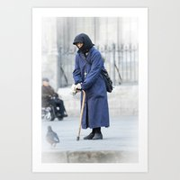 spanish Art Prints featuring Spanish Nun  by Rob Hawkins Photography