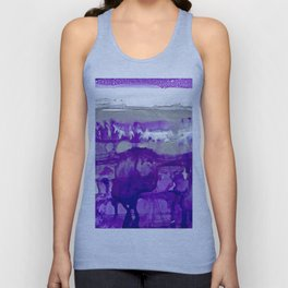 Winter in Purple and Silver Unisex Tank Top
