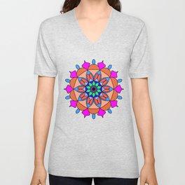 Hand drawing zentangle color Unisex V-Neck