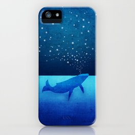 Whale Spouting Stars - Magical & Surreal iPhone Case