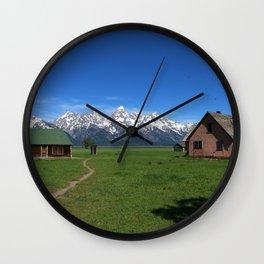Moulton Homestead and Grand Teton Range Wall Clock
