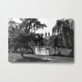 The Lake at Central Park Metal Print