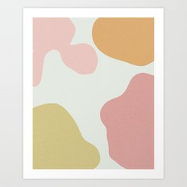 Pink Organic Shapes Art Print