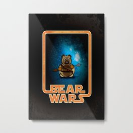 Bear Wars - Raider Metal Print