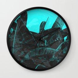 Marble Banana Leaf Wall Clock