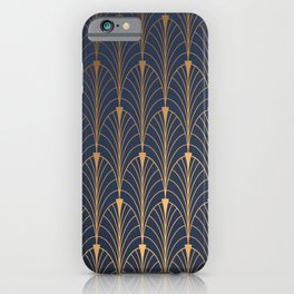 gold and blue iPhone Case
