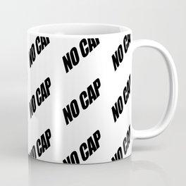 NO CAP Black Minimal Pattern Coffee Mug