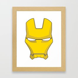 Iron Man Helmet  Framed Art Print