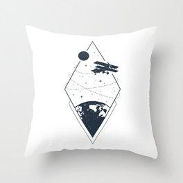 Sky. Earth. Plane. Throw Pillow