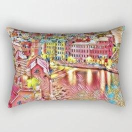 Italian Coast on a Boring Day Landscape by Jeanpaul Ferro Rectangular Pillow
