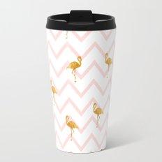 Gold Flamingo Travel Mug