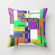 Pastel Geometry Throw Pillow