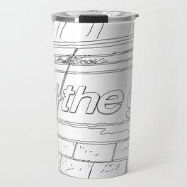 A day in Lodon - Line Art Travel Mug