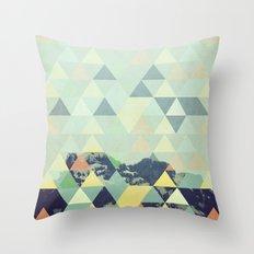 Triangle Mountain II Throw Pillow