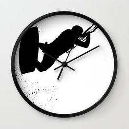 Up Up And Away Kiteboarder Silhouette Wall Clock