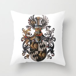 Medieval Old Crest Throw Pillow