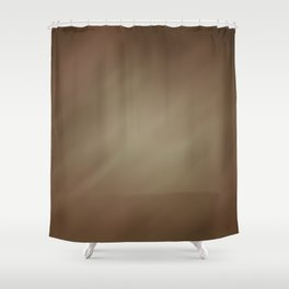 Abstract Watercolor Gradient Blend 2 Earthy Brown Tones Shower Curtain