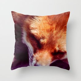 The Red Fox is sleeping, be quiet Throw Pillow