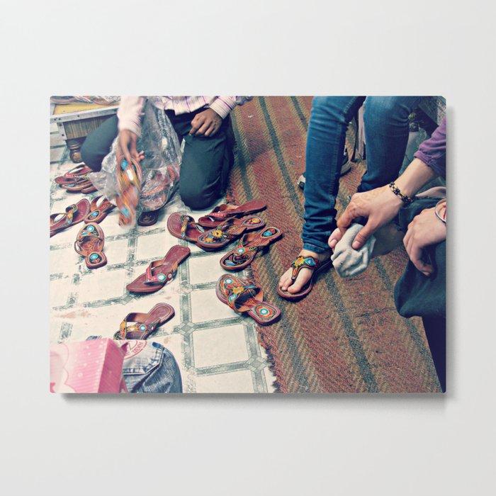 India Shoes Shop Metal Print