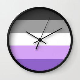 Pastel Asexual Pride Wall Clock