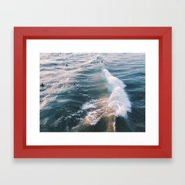 Surf at Sunset Framed Art Print