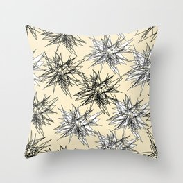 Black and White Squiggles Throw Pillow