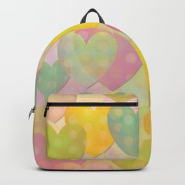 Pastel Colors Flying Hearts Backpack