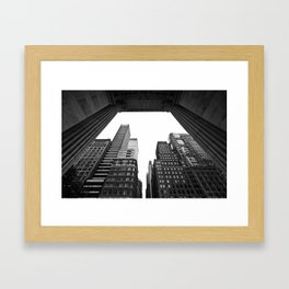 New York under the rain Framed Art Print