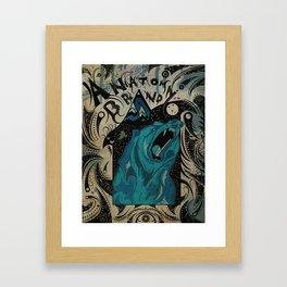 The Mountain Bear Of The Night Framed Art Print
