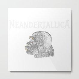 Neandertallica Metal Print
