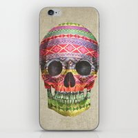 navajo iPhone & iPod Skins featuring Navajo Skull  by Terry Fan