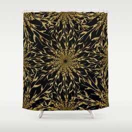 Black Gold Glam Nature Shower Curtain