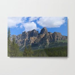 Castle Mountain Metal Print