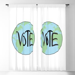 Vote Earth Hand Drawn Blackout Curtain