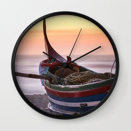 Fishing boat Wall Clock