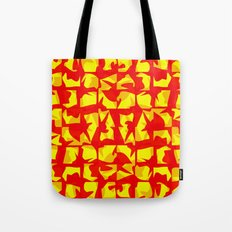 red shapes Tote Bag