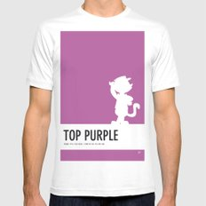 No11 My Minimal Color Code poster Top Cat White MEDIUM Mens Fitted Tee