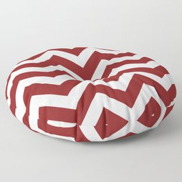OU Crimson red - red color - Zigzag Chevron Pattern Floor Pillow
