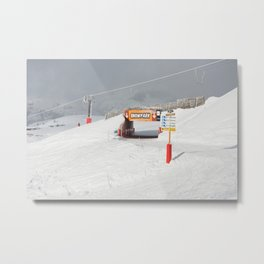 Entrance to the Snowpark Metal Print
