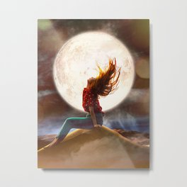At the Edge Of The Desert Metal Print