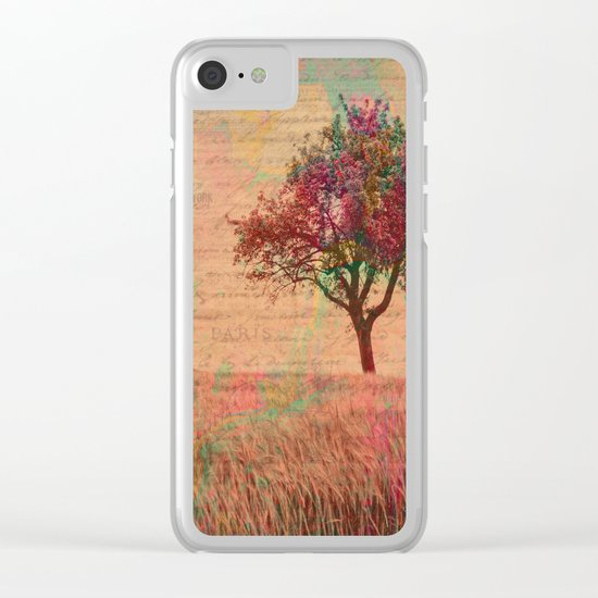 The Kissing Tree, Landscape Art Photo Collage Clear iPhone Case