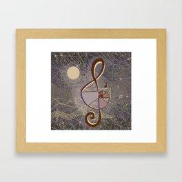 vintage music geometry Framed Art Print