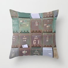 Mailboxes I Throw Pillow