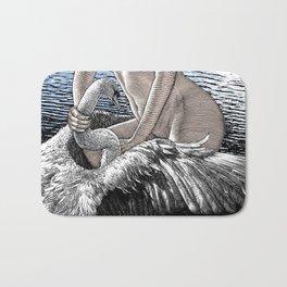 asc 677 - Les ailes du désir (The swain in disguise) Colored version Bath Mat