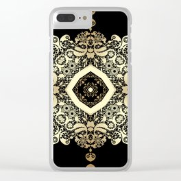 Golden Eastern ornament . Clear iPhone Case