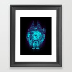 Go Far, Far Away Framed Art Print