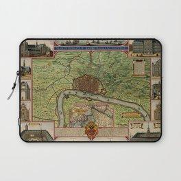Map Of Antwerp 1624 Laptop Sleeve