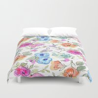 bees Duvet Covers featuring bees by Ariadne