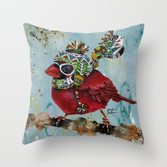 Cardinal Blaze Throw Pillow